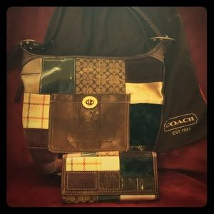 Very Rare Coach Patchwork shoulder bag and wallet.